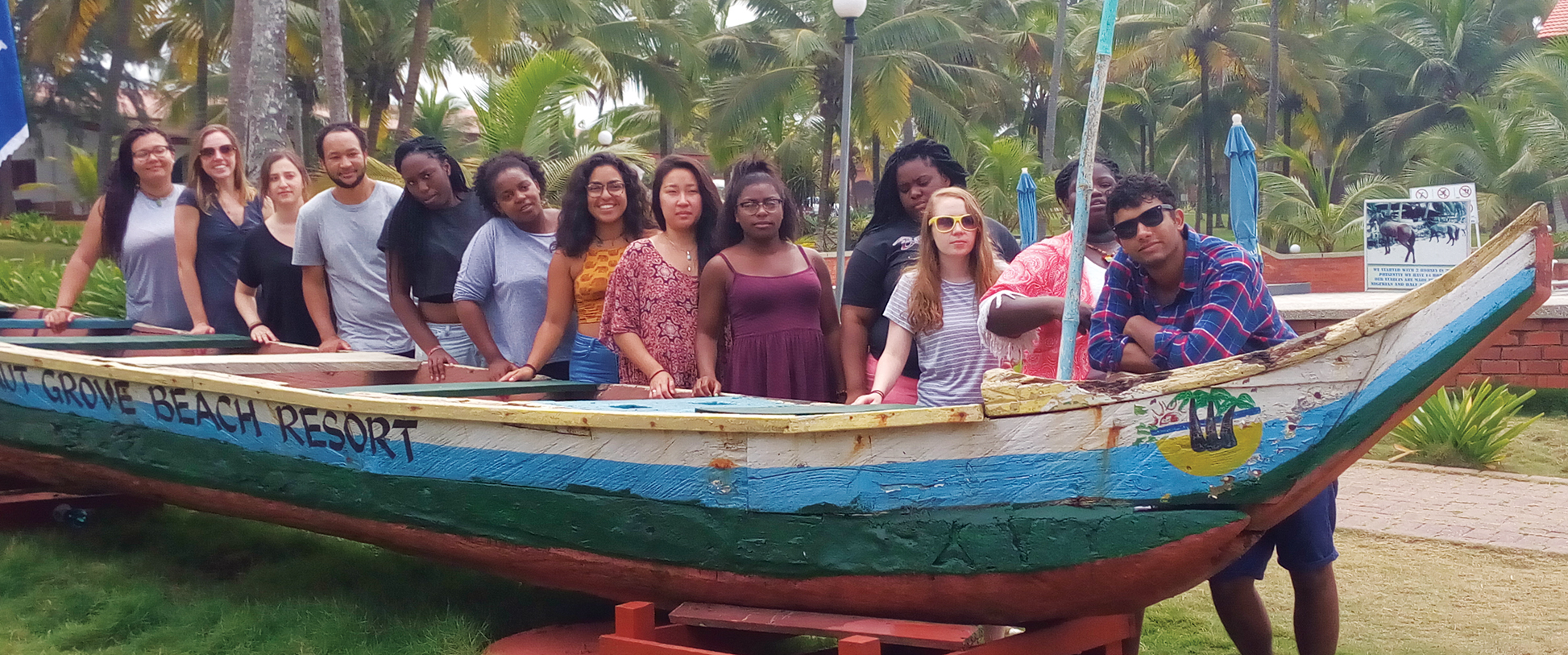 Kwame Essien and Lehigh students in Ghana, College of Arts and Sciences, Lehigh University